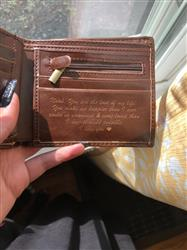 Emily B. verified customer review of Leather Wallet: Circle