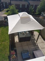 Sarah B. verified customer review of Canopy for 3m x 3m Patio Gazebo - Two Tier