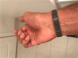 jamie q. verified customer review of WORK HARD. DREAM BIG. Wristband