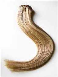 20 Inch Clip In Human Hair Extensions Highlight Color 18/613#  Straight Virgin Thick Hair
