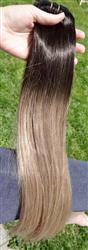 20 Inch Human Clip In Hair Extensions Ombre Color 2/6/18# 100% Virgin Straight Hair
