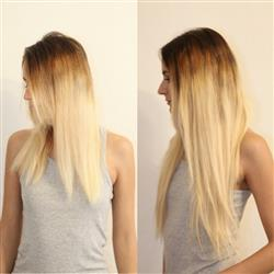 100% Human Virgin Clip In Hair Extensions Silky Straight Ombre Color 6/613# 20 inch