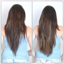 20 Inch Clip In Hair Extensions Ombre Color 2#/Mixed 2/6# Straight 100% Human Virgin Hair