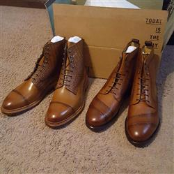 Khalid A. verified customer review of The Irwin Boot in Cognac (Final Sale - No Returns or Exchanges)