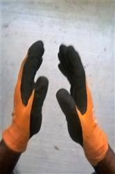 Andre G. verified customer review of MaxiFlex® Ultimate™ 34-8014 Hi-Vis Orange Nitrile Grip Work Gloves