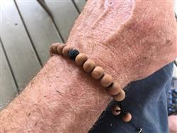 David G. verified customer review of Sweet Sandalwood and Lava Rock Bracelet