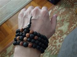 Miguel F. verified customer review of Men's 108 Tibetan Mala with Lava Rock and Rosewood