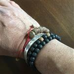 Art G. verified customer review of Double Wrap Lava Rock and Thai Wood Beads Mala Bracelet