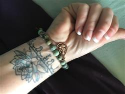 Laura L. verified customer review of African Turquoise Healing Energy Bracelet
