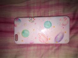 """Silje t. verified customer review of """"PASTEL PLANETS"""" CASE"""