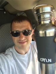 Brandob A. verified customer review of DYLN Living Water Bottle