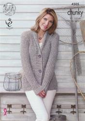 Cardigan and Top in King Cole Bamboo Cotton DK (3693)