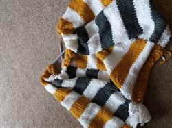 Angela E. verified customer review of Striped Afghan Kit in Deramores Studio Chunky