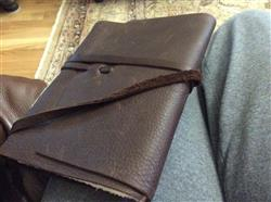 patricia S. verified customer review of Italian Leather Wrap Journal featuring handmade Amalfi pages - espresso