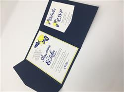 Ashley D. verified customer review of Blazer Blue Solid Pocket Invitation Card, A-7.5 Himalaya