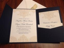Angelica S. verified customer review of Blazer Blue Solid Pocket Invitation Card, A-7.5 Himalaya