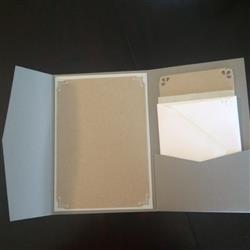 Debra J. verified customer review of Gray Smoke Solid Pocket Invitation Card, A7 Himalaya