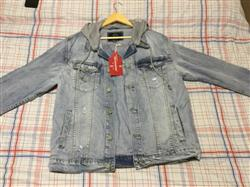 John W. verified customer review of Layered Hooded Denim Jacket DK109 - EE1F