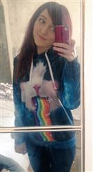 Charlotte M. verified customer review of Rainbow Kitty Pullover Hoodie