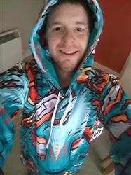Jonathon B. verified customer review of Digital Wolf Pullover Hoodie