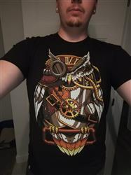 Anonymous verified customer review of Clockwork Owl Men's Tee