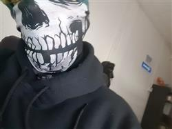 Steven M. verified customer review of Skeleton Seamless Mask Bandana