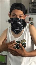 Black Camo Cats Seamless Mask Bandana
