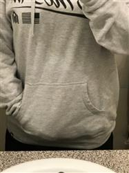 Jennifer V. verified customer review of ITAM Basics Pullover Hoodie - Grey