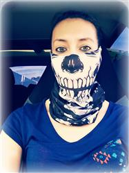 Skeleton Seamless Mask Bandana