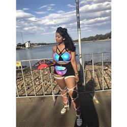 Ruvina D. verified customer review of Holographic Shimmer Fanny Pack