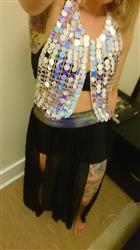 PHAEDRA C. verified customer review of Iridescent Sequin Mesh Top