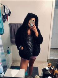 Anissa F. verified customer review of Always Cozy Hooded Fur Jacket