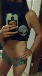 MYVL Alien Boobs Halter Top
