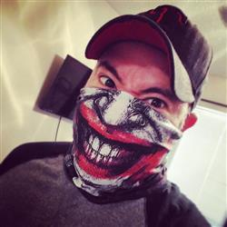Luke J. verified customer review of Joker Seamless Mask Bandana
