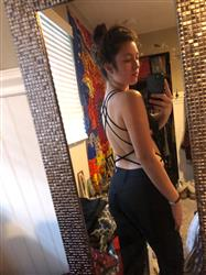 Julia K. verified customer review of Double Crossed Bodysuit