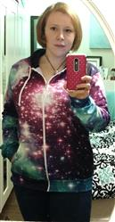 Katie S. verified customer review of Custom Zip-Up Hoodie