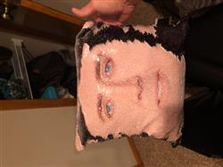 Evan s. verified customer review of Cage Face Sequin Cushion Cover