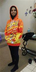 Alicia A. verified customer review of Flamin Hot Hoodie