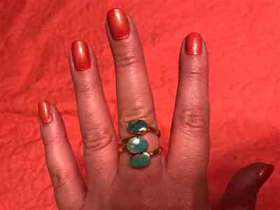 Vintage Triple Wrap Gold & Turquoise Ring