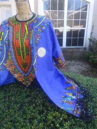 Canisha J. verified customer review of Dashiki Angelina African Print - Blue