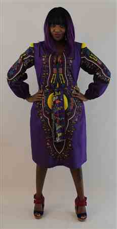 Elizabeth m. verified customer review of Dashiki Angelina African Print - Purple