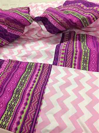 Pink Chevron Printed Broadcloth