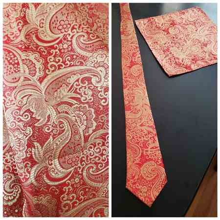 Tabitha J. verified customer review of Red / Gold Paisley Brocade Fabric