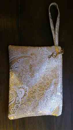 Jamie A. verified customer review of Silver / Silver Paisley Brocade Fabric