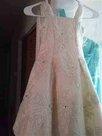 wanda c. verified customer review of Celosia Bridal Lace Beaded Fabric