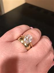 Kristin B. verified customer review of 3 ct Oval Solitaire Ring - 14k Yellow Gold