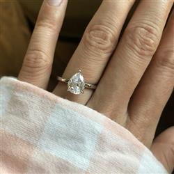 Merideth H verified customer review of 2 ct Pear Solitaire Ring