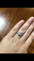 Madison W  verified customer review of 1.25 ctw Emerald Halo Set