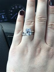 Kaysie Partlow  verified customer review of 3 ct Oval Solitaire Ring