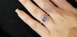 Zara M. verified customer review of 2.5 ctw Pear Halo Ring - Rose GP